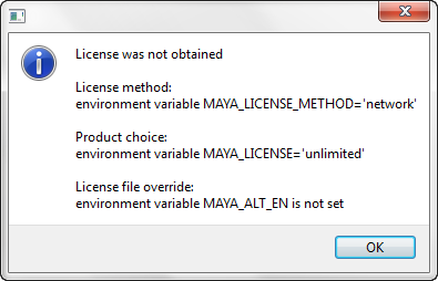 User license was not obtained? - Simply Maya User Community
