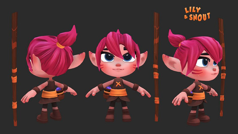 Get Lily and Snout free character rigs for Maya
