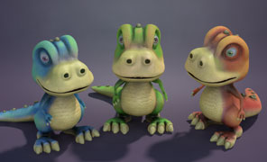 Maya Tutorial: Burt The Cartoon Dinosaur Vol 2 - Texturing