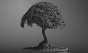 Maya Tutorial: Creating props for set dressing - Bonsai tree